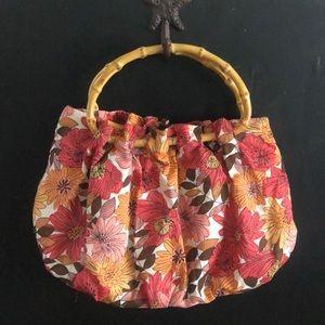Ann Taylor LOFT bamboo handle bag